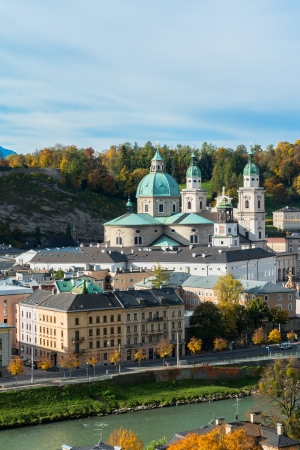 General view of the historical center of Salzburg, Austria Stock Photo