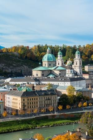General view of the historical center of Salzburg, Austria Standard-Bild