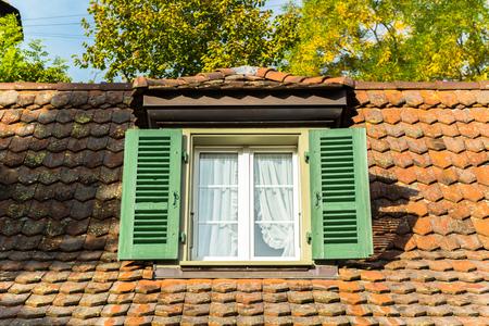 window and garret roof