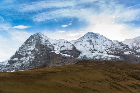 jungfraujoch: Jungfraujoch, Part of Swiss Alps Alpine Snow Mountain Landscape at Switzerland