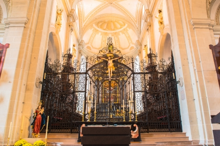 high priest: Lucerne cathedral  Stock Photo