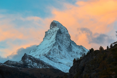 Matterhorn peak, Zermatt, Switzerland  Stock Photo
