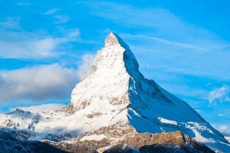 matterhorn: Matterhorn peak, Zermatt, Switzerland  Stock Photo