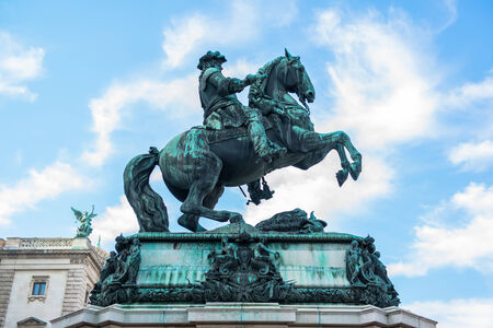 Sculpture of prince Eugene at Hofburg, Vienna photo