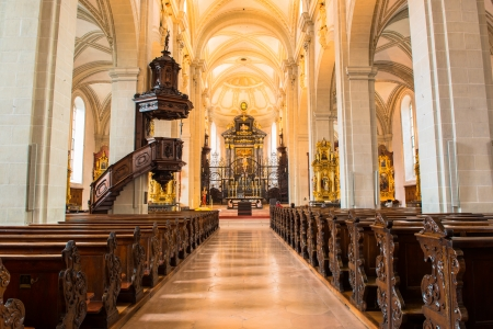 high priest: Lucerne cathedral  Editorial