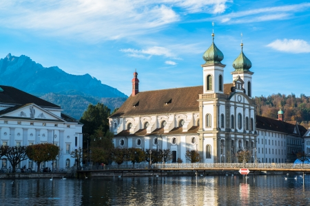 Jesuit church in Lucerne, Switzerland  photo