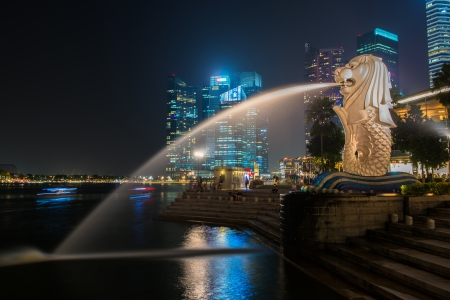 Merlion, a mascot and national personification of Singapore Editorial