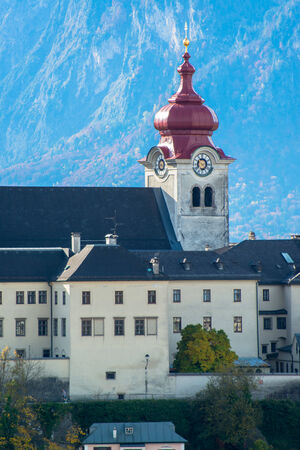 General view of the historical center of Salzburg, Austria  photo