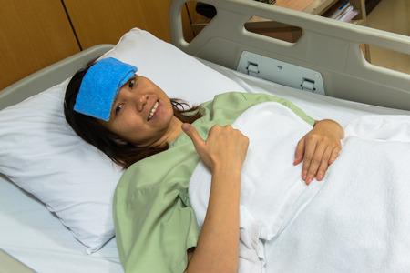 Sick patient on gurney  photo