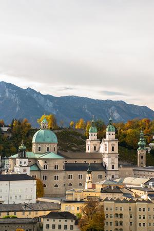 amadeus: General view of the historical center of Salzburg, Austria Stock Photo