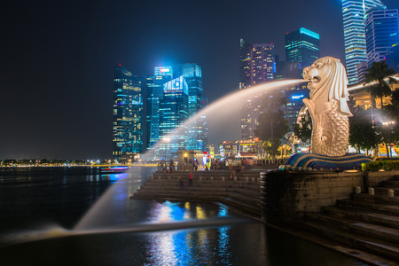 Merlion, a mascot and national personification of Singapore
