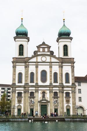 Jesuit church in Lucerne, Switzerland photo