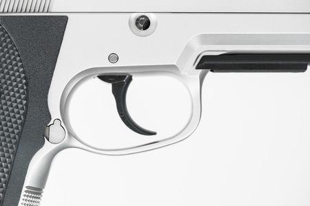 Gun , focus on trigger photo