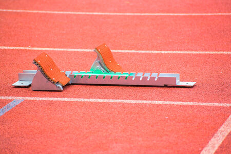 tenseness: the starting blocks on running tracks