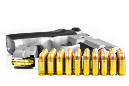 vigilante: Bullets with the gun Stock Photo