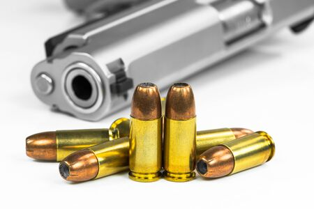 bullet: Bullets with the gun Stock Photo