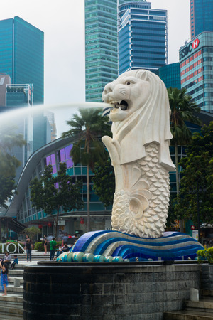 personification: Merlion, a mascot and national personification of Singapore Editorial