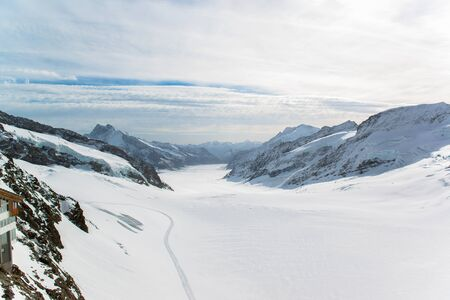 jungfraujoch: Alps mountain landscape at Jungfraujoch, Top of Europe Switzerland