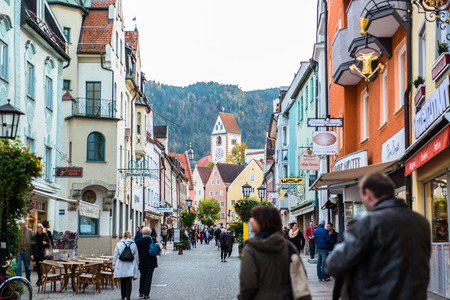 case colorate: Beautiful colorful houses in Fussen, Bavaria, Germany
