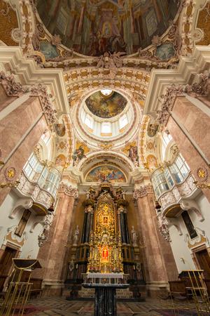 innsbruck: Dom Sankt Jakob, Cathedral of Innsbruck, Austria Editorial