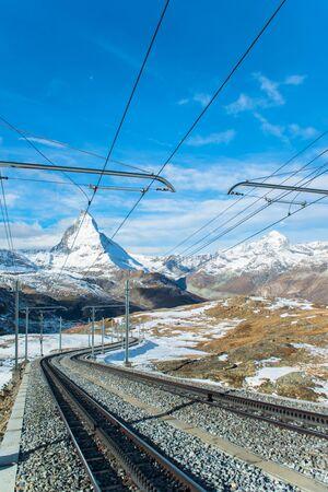 pyramid peak: Matterhorn peak, Zermatt, Switzerland