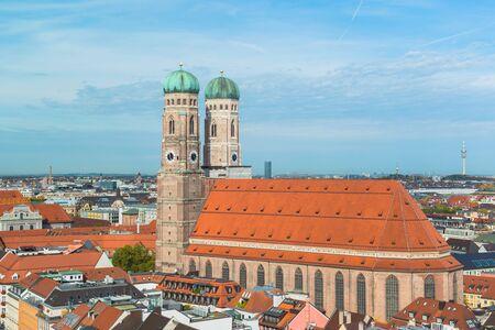 frauenkirche: Aerial view of Munchen Frauenkirche