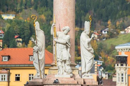 innsbruck: Innsbruck Austria - architecture and nature background Stock Photo