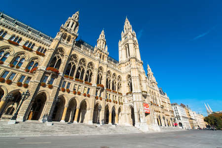 cityhall: The City Hall of Vienna, Austria