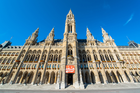 townhall: The City Hall of Vienna, Austria