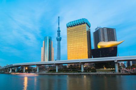 sumida: View of Tokyo skyline from Sumida river