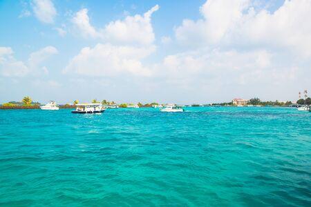 motorboats: Tourist transportation motorboats in Male, Maldives