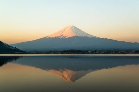 cloud capped: Mt Fuji rises above Lake Kawaguchi