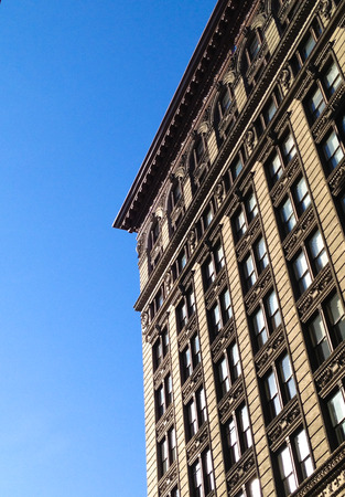 Single building and sky in New York City SoHo Stock Photo