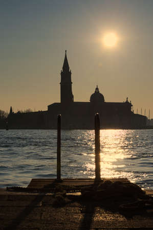 landing stage: Landing stage in front of San Giorgio in Venice