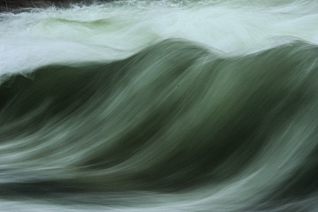 fluent: Roaring wave in motion with white foam Stock Photo