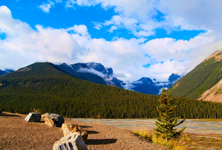 jasper: Glacier panorama in Jasper National Park, Canada