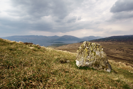 loch lomond: Loch Lomond in Scotland with cloudy sky