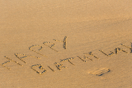 Happy Birthday At The Beach Sand Stock Photo Picture And Royalty Free Image 50487998