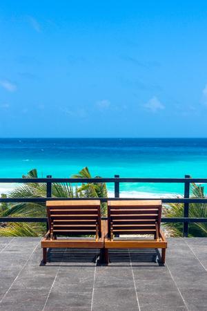 Great place to appreciate the beautiful Caribbean sea in Cancun - Mexico