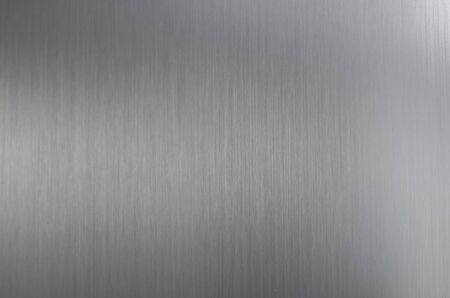 Brushed steel texture with light reflection and gloss Stock Photo