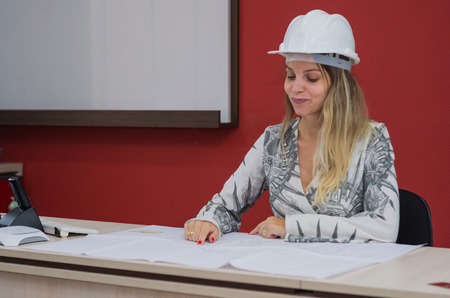 Great concept of engineering design, engineer working on architectural design.