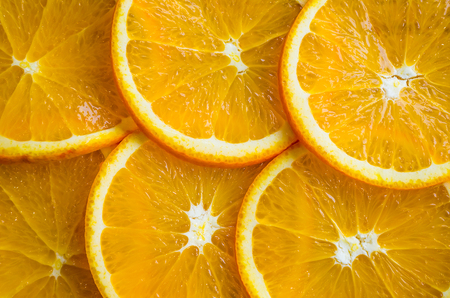 Beautiful texture of orange slices Imagens