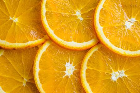 Beautiful texture of orange slices