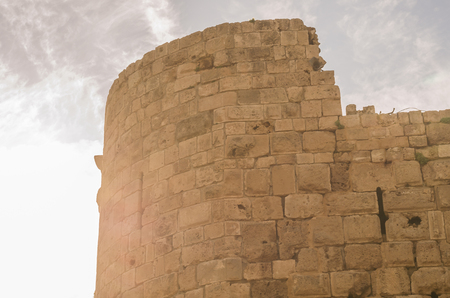 Castle of the Sea, Sidon, Lebanon, historic castle built by the Crusaders in 1228 to serve as a fortress of protection.