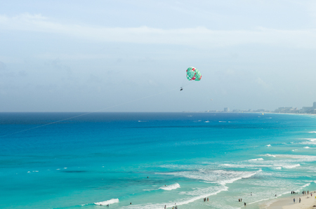 View of Cancun beach