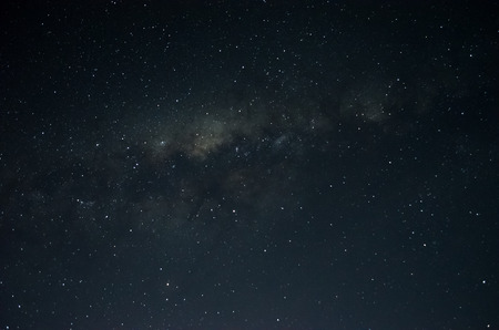 Photo of the Milky Way, Long exposure at night with starry sky.