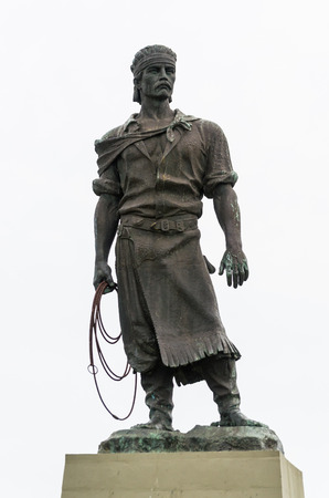 Porto Alegre, Brazil - September 16, 2018: Sculpture of the typical Brazilian gaucho, called work (Monument to the Laçador or popularly known as Statue of the Laçador) Editorial