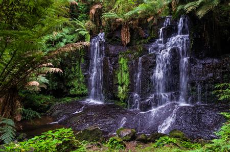 Beautiful cascade in the Rio Grande do Sul, concept of nature.