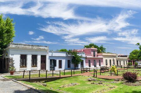 Colonia del Sacramento, Uruguay - Dezember 26, 2015: Portuguese colonial architecture and ancient cobblestone streets are some of Colonia Del Sacramento's top features