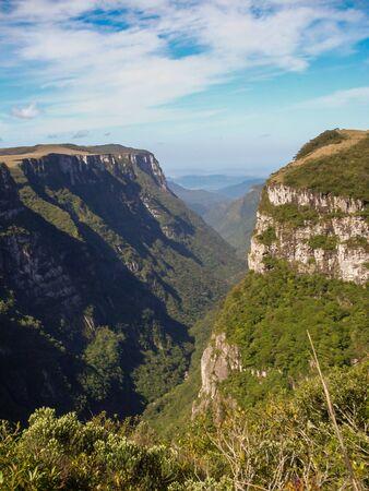 Beautiful landscape of Fortaleza Canyon and green rainforest, Cambara do Sul, Rio Grande do Sul, Brazil